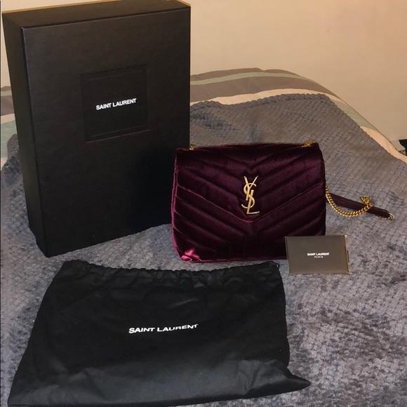 Saint Laurent loulou monogram velvet shoulder bag.  M 5bb81040819e90034f02fadd a9f70e48647ec